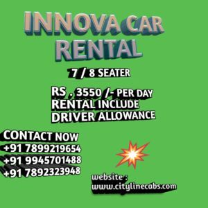 Innova for rent in Bangalore with driver.cabsrental.in